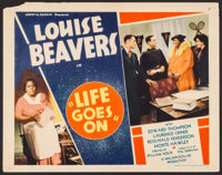 "Life Goes On (Million Dollar Distributing Co., 1938). Title Lobby Card (11"" X 14""). Black Films"