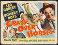 """Movie Posters:Sports, Crazy Over Horses (Monogram, 1951). Half Sheet (22"""" X 28""""). Sports.. ..."""
