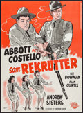 "Movie Posters:Comedy, Buck Privates (Universal International, 1949). First Post-War Release Danish Poster (24.25"" X 33.5""). Comedy.. ..."