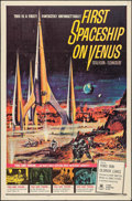"""Movie Posters:Science Fiction, First Spaceship on Venus (Crown International, 1962). One Sheet (27"""" X 41""""). Science Fiction.. ..."""