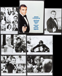 """Never Say Never Again (Warner Brothers, 1983). Presskit (9"""" X 12"""") with 17 Photos. James Bond. ... (Total: 17..."""