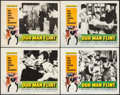"""Movie Posters:Adventure, Our Man Flint & Other Lot (20th Century Fox, 1966). Lobby Cards(4) (11"""" X 14""""), Pressbook (10 Pages, 13"""" X 16.5""""), & Uncut ...(Total: 6 Items)"""