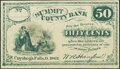 Obsoletes By State:Ohio, Cuyahoga Falls, OH- W.A. Hanford at Summit County Bank 50¢ 1862Remainder. ...