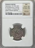 Ancients:Roman Imperial, Ancients: Numerian as Caesar (AD 283-284). BIL antoninianus (3.87gm). NGC MS 4/5 - 3/5, silvering....