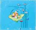 Animation Art:Presentation Cel, The Jetsons Publicity Cel and Production Background(Hanna-Barbera, c. 1980s)....