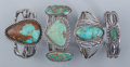 American Indian Art:Jewelry and Silverwork, Four Navajo Bracelets. c. 1930... (Total: 4 Items)