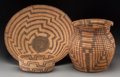 American Indian Art:Baskets, Three Southwest Coiled Basketry Items . c. 1900... (Total: 3 Items)