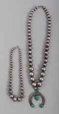 Other, Two Navajo Necklaces. c. 1940 - 1960... (Total: 2 )