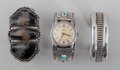 American Indian Art:Jewelry and Silverwork, Three Navajo Bracelets. c. 1930 - 1960... (Total: 3 Items)