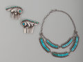 American Indian Art:Jewelry and Silverwork, Two Southwest Jewelry Items . c. 1950... (Total: 3 Items)