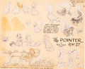 animation art:Model Sheet, The Pointer Pluto Model Sheet (Walt Disney, 1939)....