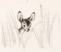 Animation Art:Production Drawing, Bambi Concept Art (Walt Disney, 1942)....