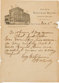 "Autographs:Celebrities, William F. ""Buffalo Bill"" Cody: A Longhand Letter ofRecommendation...."