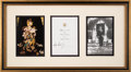 Political:3D & Other Display (1896-present), John F. Kennedy and Jacqueline Kennedy: Rare Intended 1963 Christmas Card, Signed by Both....