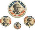 Political:Pinback Buttons (1896-present), William Jennings Bryan: Four Celluloid Pinbacks.... (Total: 4 Items)