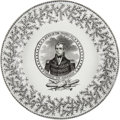 Political:3D & Other Display (pre-1896), William Henry Harrison: Dinner Plate by Tams....