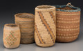 American Indian Art:Baskets, Four Plateau Twined Hemp/Cornhusk Bags. c. 1920 - 1930... (Total: 4Items)