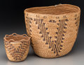 American Indian Art:Baskets, Two Plateau Imbricated Baskets. c. 1920... (Total: 2 Items)