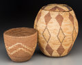 American Indian Art:Baskets, Two Northwest Coast Imbricated Baskets. c. 1910 and 1930 ...(Total: 2 Items)