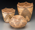 American Indian Art:Baskets, Three Klickitat Imbricated Baskets. c. 1920 - 1940... (Total: 3Items)