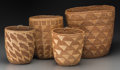 American Indian Art:Baskets, Four Plateau/Norwest Coast Imbricated Baskets. c. 1910 - 1930...(Total: 4 Items)