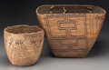 American Indian Art:Baskets, Two Northwest Coast Imbricated Baskets. c. 1890 ... (Total: 2Items)