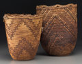 American Indian Art:Baskets, Two Plateau Imbricated Baskets. c. 1900 - 1910... (Total: 2 Items)