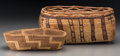 American Indian Art:Baskets, Two Northwest Coast Baskets. c. 1920... (Total: 2 Items)