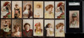 "Non-Sport Cards:Lots, 1890's N264 Lorillard ""Red Cross"" Actresses (13). ..."