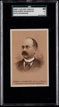 """Non-Sport Cards:Singles (Pre-1950), C. 1890's N559 Lake Erie """"State Governors"""" Albert Morehouse SGC 40VG 3. ..."""