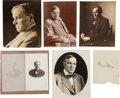 Autographs:Celebrities, Clarence Darrow: Studio Portraits and Signature.... (Total: 6Items)