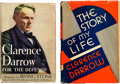 Books:Biography & Memoir, Clarence Darrow: Pair of Biographies with Lengthy Inscription byIrving Stone.... (Total: 2 Items)