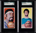 Basketball Cards:Lots, 1970 Topps Basketball Lew Alcindor & Wilt Chamberlain SGCGraded Pair (2)....