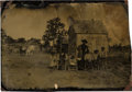 Photography:Tintypes, African Americana: Tintype of Sharecroppers or Homesteaders....