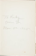 Clarence Darrow: Signed Presentation Oscar Wilde Book