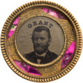 Political:Ferrotypes / Photo Badges (pre-1896), Ulysses S. Grant: 1868 Back-to-Back Ferrotype Badge....