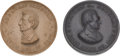 Political:Tokens & Medals, Abraham Lincoln and Stephen A. Douglas: Pair of Composition Medals....