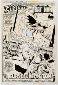 Jose Luis Garcia-Lopez and Dick Giordano World's Finest Comics #258 Splash Page 1 Original Art (DC, 1979)