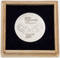Olympic Collectibles:Autographs, 1964 Tokyo Summer Olympics Flag Bearer Medal. ...