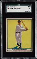 Baseball Cards:Singles (1940-1949), 1941 Play Ball Hank Greenberg #18 SGC 60 EX 5....