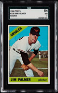 Baseball Cards:Singles (1960-1969), 1966 Topps Jim Palmer #126 SGC 84 NM 7....