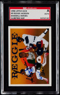 Baseball Cards:Singles (1970-Now), 1990 Upper Deck Baseball Heroes Reggie Jackson Autograph Card SGC Authentic....