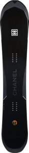 """Luxury Accessories:Home, Chanel Limited Edition Black Carbon Fiber Snowboard . PristineCondition. 11"""" Width x 62"""" Length. ..."""