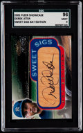 Baseball Cards:Singles (1970-Now), 2001 Fleer Showcase Sweet Sigs Bat Edition Derek Jeter AutographSGC 96 Mint 9....