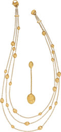 Estate Jewelry:Necklaces, Gold Necklace, Marco Bicego. ... (Total: 2 Items)