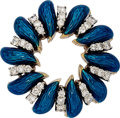 Estate Jewelry:Brooches - Pins, Diamond, Enamel, Gold Brooch, Tiffany & Co. . ...