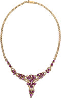 Estate Jewelry:Necklaces, Ruby, Diamond, Gold Necklace . ...