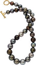 Estate Jewelry:Necklaces, South Sea Cultured Pearl, Gold-Plated Necklace. ...