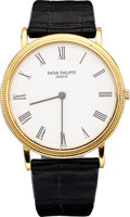 Estate Jewelry:Watches, Patek Philippe Gentleman's Gold Calatrava Watch. ...