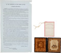 Political:Small Paper (pre-1896), Andrew Johnson: A Fine Group of Three Pieces.... (Total: 3 Items)